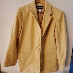 Requirements Yellow Long Sleeve Blazer Jacket 10